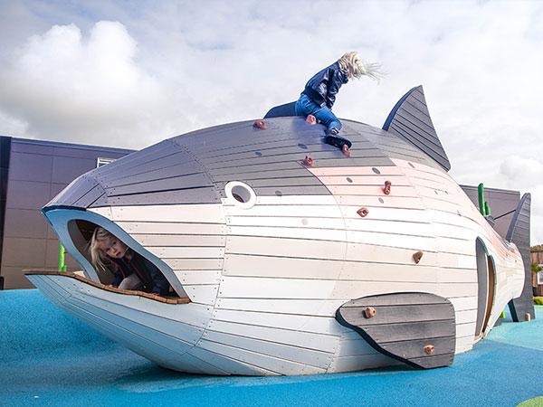 可定制不锈钢滑梯 海鱼造型组合滑梯工厂批发