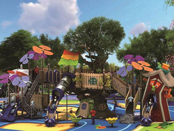 公园大型组合滑梯厂家 幼儿园多功能塑料滑滑梯
