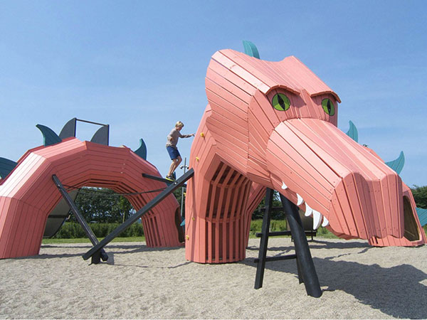 恐龙滑梯 大型无动力不锈钢滑梯工厂