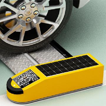 户外车位平板联网型车位锁防撞抗压测试