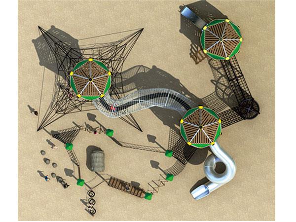 绳网攀爬户外拓展障碍组合滑梯厂家批发可定制
