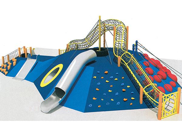 儿童钻洞早教幼儿园亲子园儿童感统训练游戏不锈钢滑梯