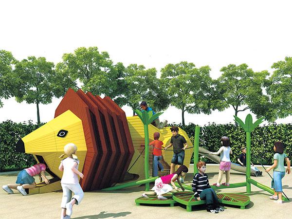 狮子造型无动力游乐设备主题乐园