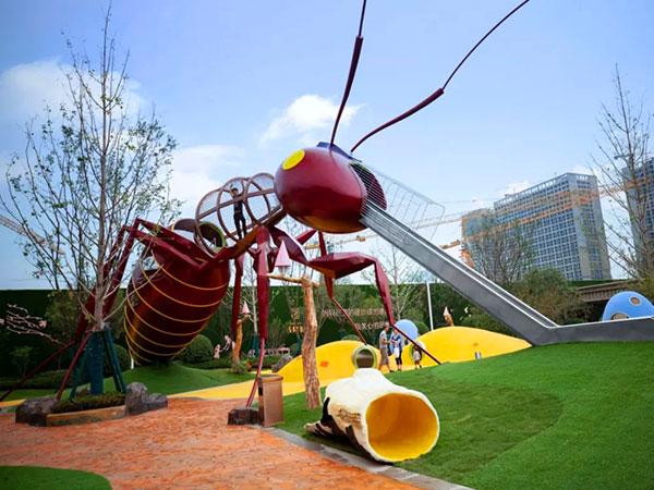 蚂蚁滑梯 无动力儿童乐园组合滑梯 游乐设备工厂