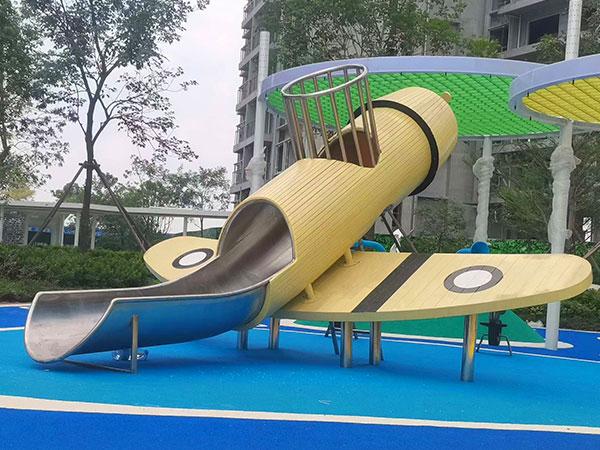 飞机滑梯 飞机造型儿童组合滑梯房地产小区游乐设备