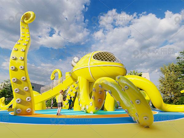 章鱼组合滑梯 章鱼造型儿童滑梯厂家可定做游乐设备