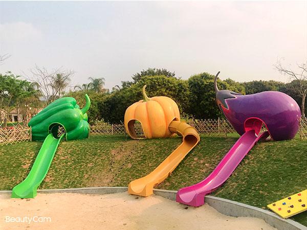 蔬菜水果滑梯 组合滑梯规划设计 无动力游乐设备厂家