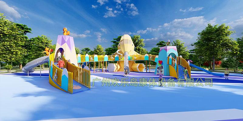 大象无动力游乐设备 大型儿童滑梯厂家